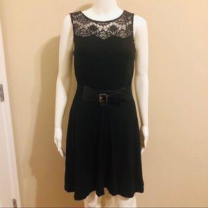 JESSICA SIMPSON Black Fit & Flare Dress
